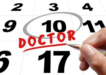 Doctors appointment on calendar