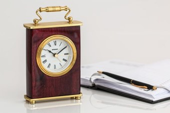clock notepad