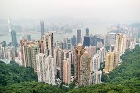 Hong Kong skyscrapers mountain