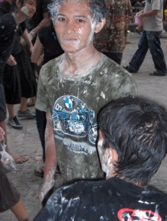 Songkran festival2 chalk