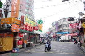 Taichung street scene motor scooter