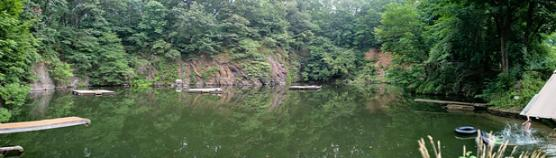 wide view of swim hole