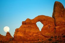 Arches NP moon
