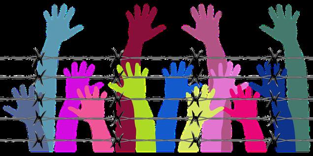 jail behind barbed wire