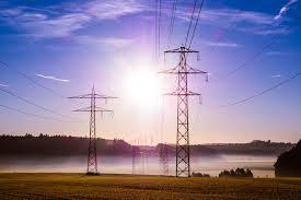 sun on power lines