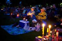 Tanglewood listeners on grass