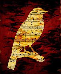 Music notes bird