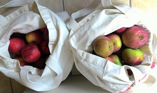 apples in bags