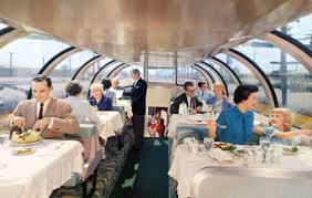 train dining car