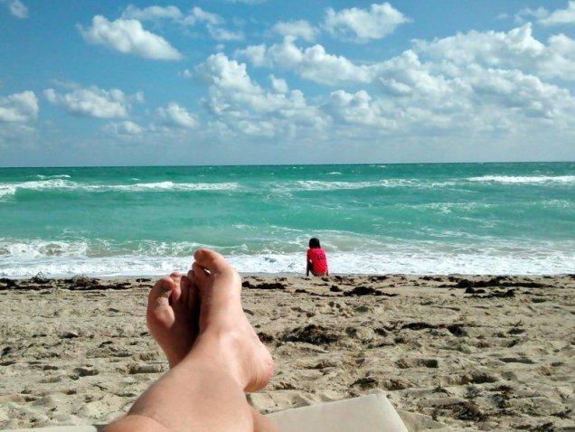 feet ocean Miami