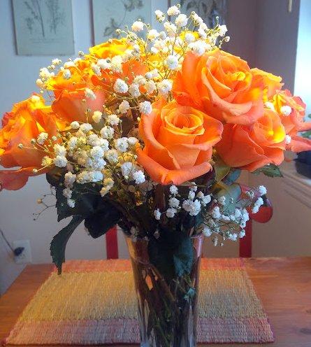 Orange roses Valentines Day 2018