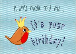 Bird birthday