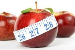 Dieting apple measuring tape