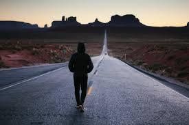 Walk down road